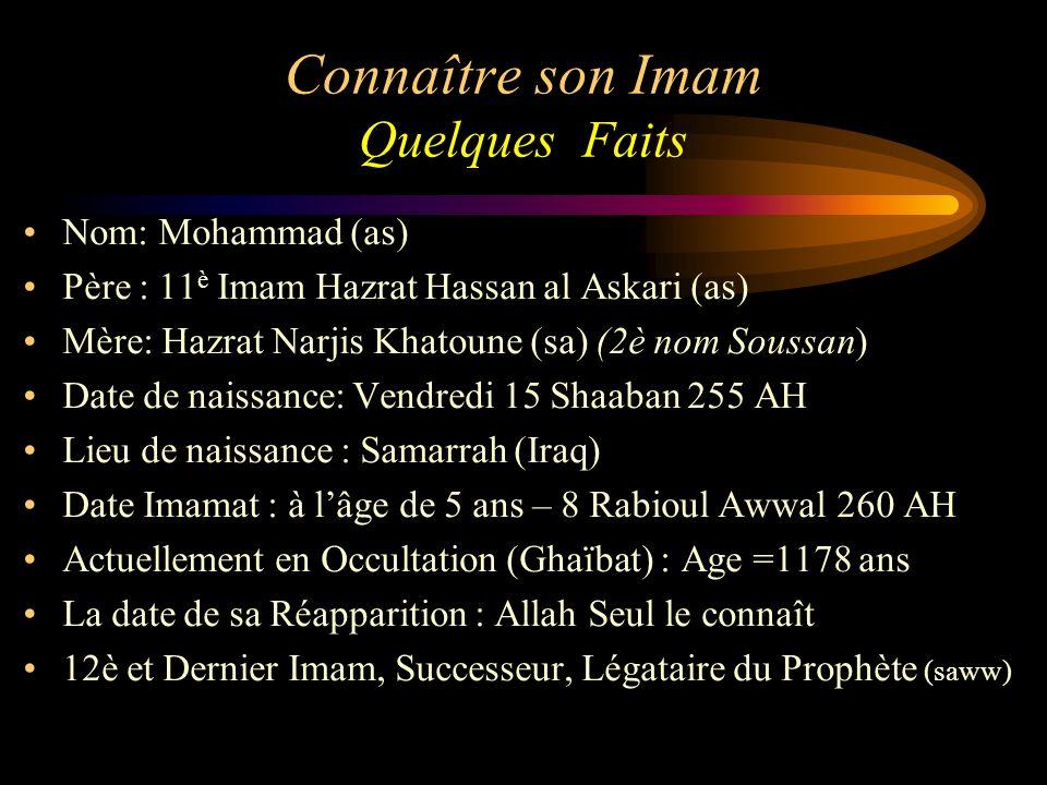 Connaître son Imam Quelques Faits