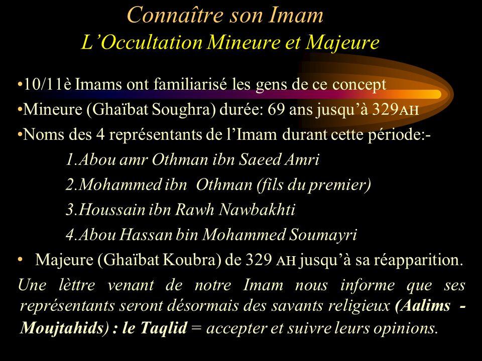 Connaître son Imam L'Occultation Mineure et Majeure