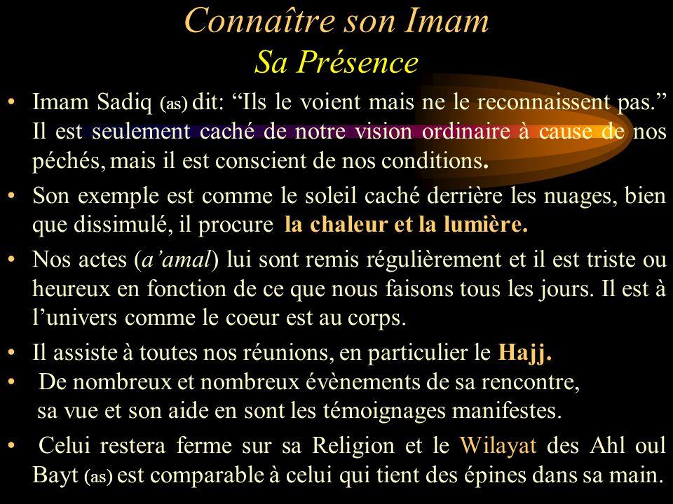 Connaître son Imam Sa Présence