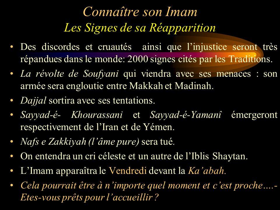 Connaître son Imam Les Signes de sa Réapparition
