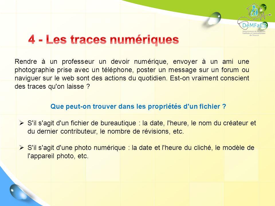 4 - Les traces numériques