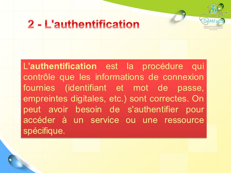 2 - L authentification