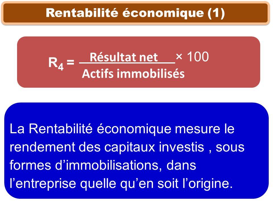 Rentabilité économique (1)