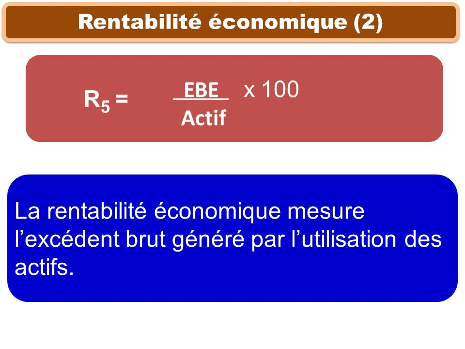 Rentabilité économique (2)