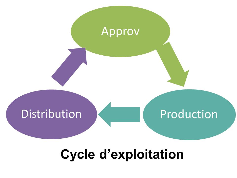 Approv Production Distribution Cycle d'exploitation