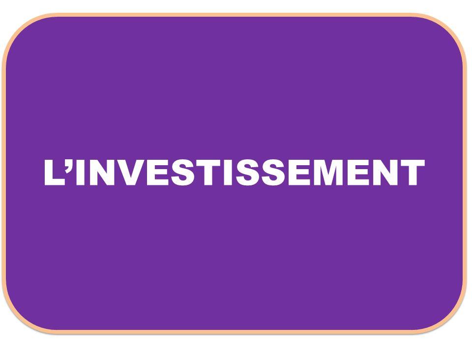 L'INVESTISSEMENT