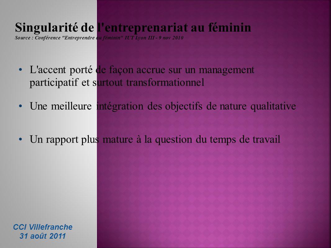 Singularité de l entreprenariat au féminin