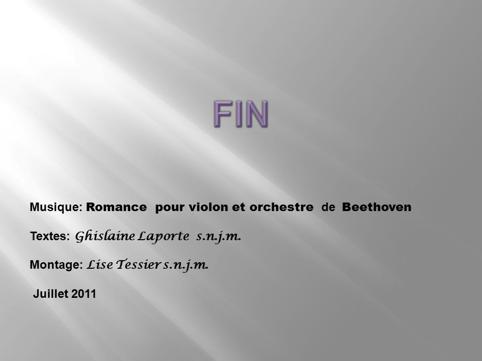 FIN Musique: Romance pour violon et orchestre de Beethoven