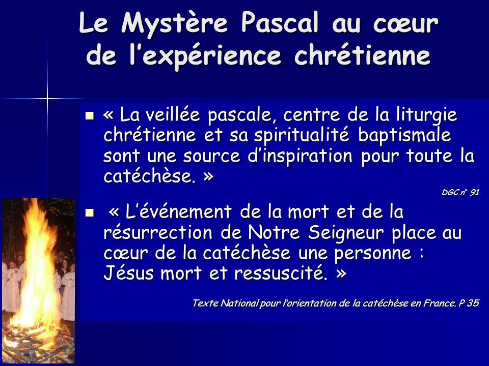 Le Mystère Pascal au cœur de l'expérience chrétienne