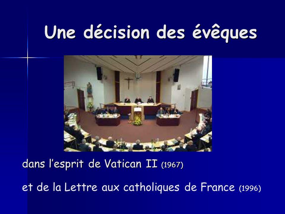 Une décision des évêques