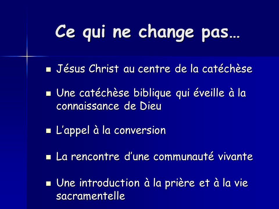 Ce qui ne change pas… Jésus Christ au centre de la catéchèse