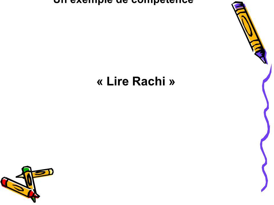 Un exemple de compétence