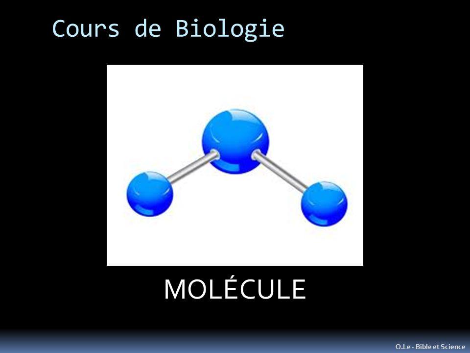 L ATOME Unité de Matière de base MOLÉCULE Cours de Biologie
