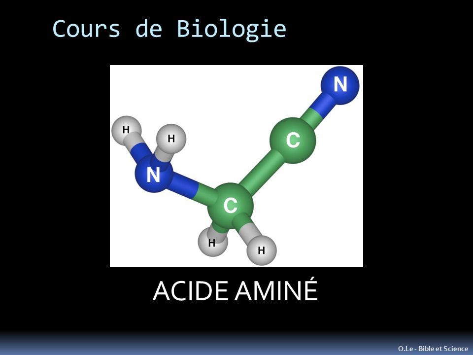 L ATOME Unité de Matière de base ACIDE AMINÉ Cours de Biologie .