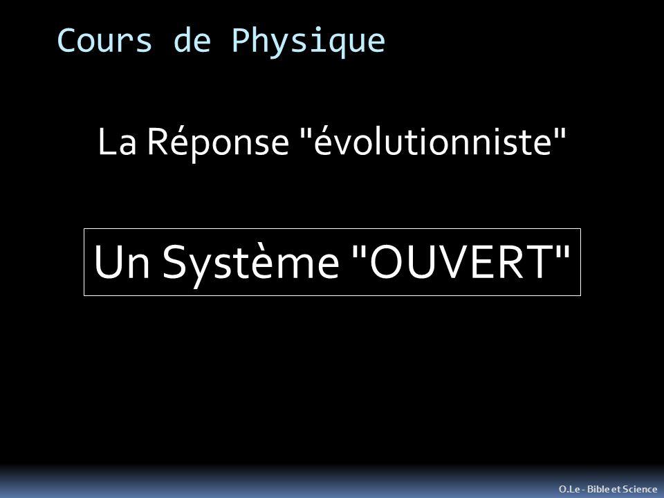La Réponse évolutionniste