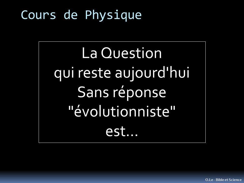 Sans réponse évolutionniste