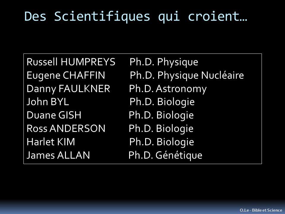 Des Scientifiques qui croient…