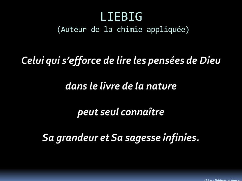LIEBIG (Auteur de la chimie appliquée)