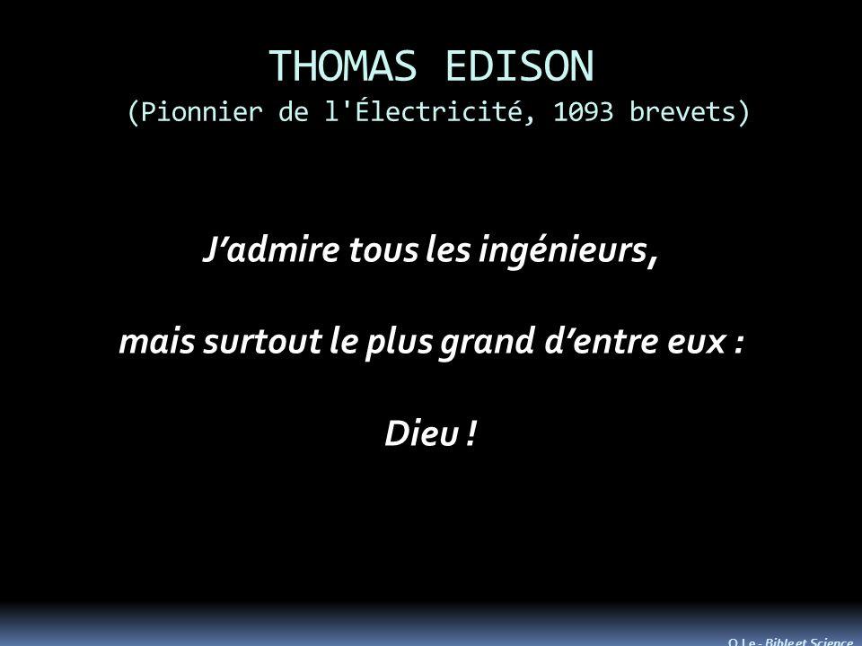 THOMAS EDISON (Pionnier de l Électricité, 1093 brevets)
