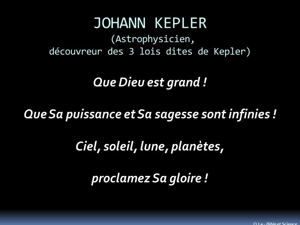JOHANN KEPLER (Astrophysicien, découvreur des 3 lois dites de Kepler)