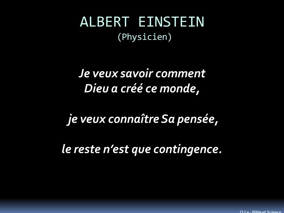 ALBERT EINSTEIN (Physicien)