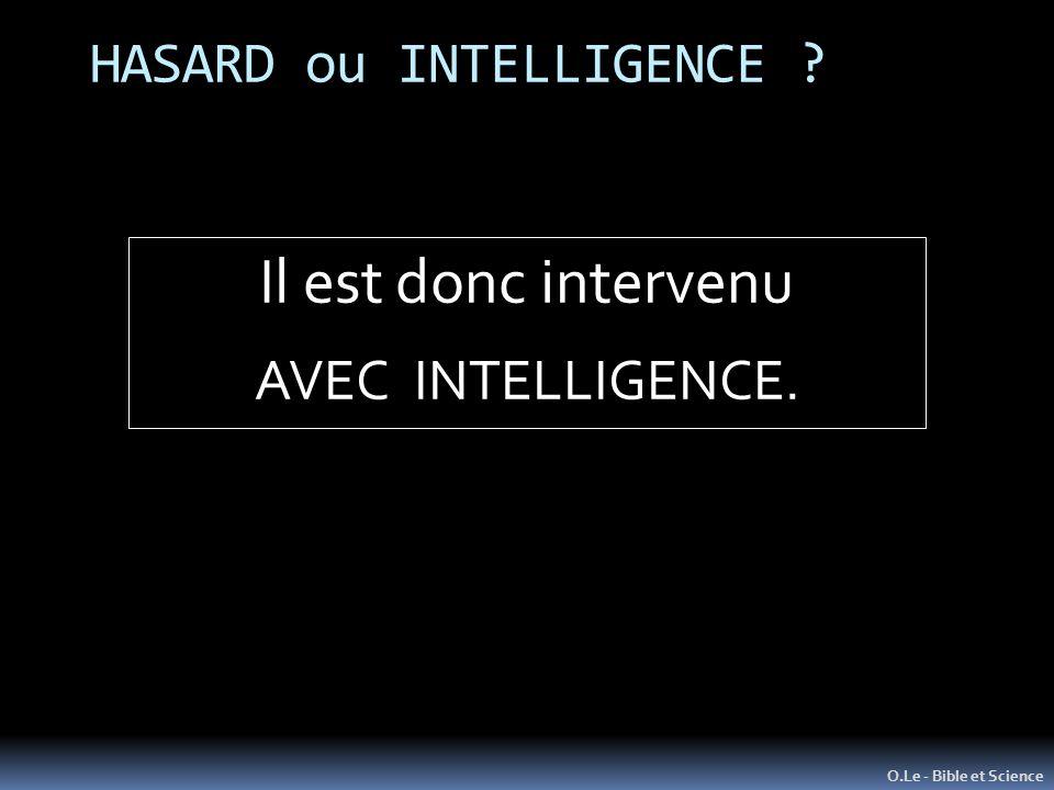 HASARD ou INTELLIGENCE