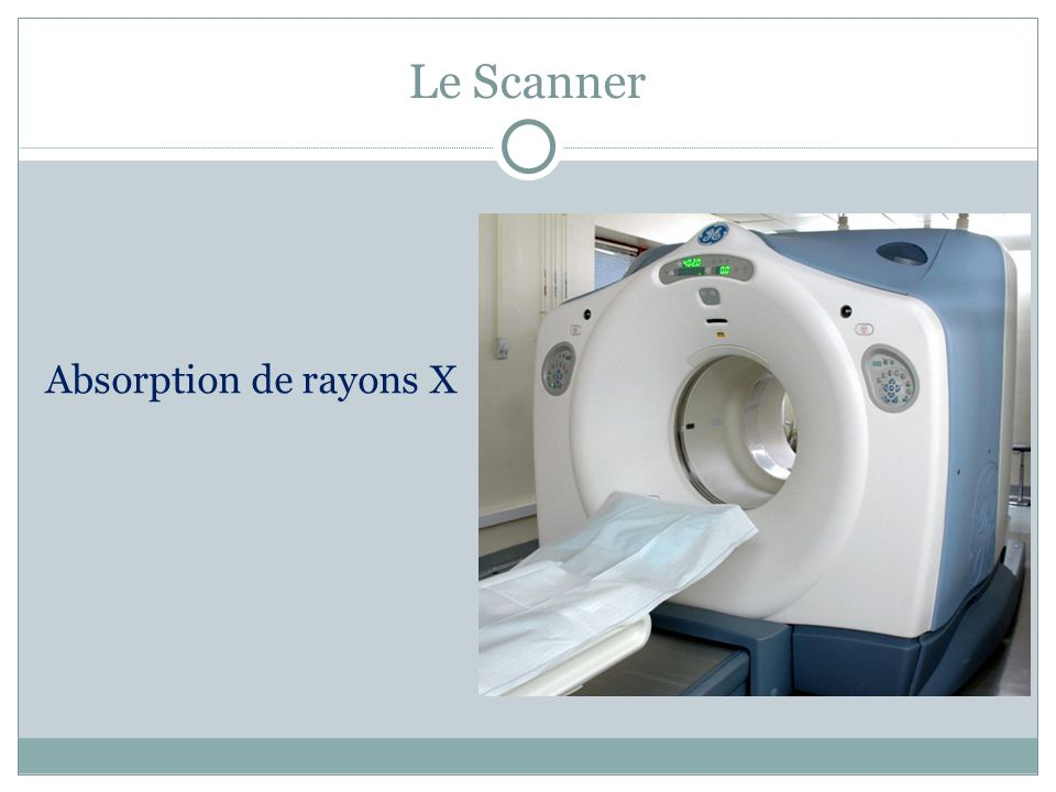 Le Scanner Absorption de rayons X