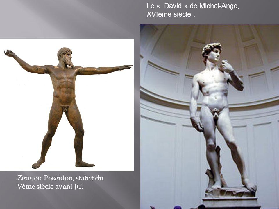 Le « David » de Michel-Ange, XVIème siècle .