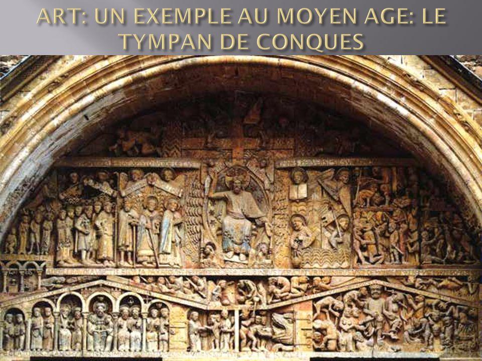 ART: UN EXEMPLE AU MOYEN AGE: LE TYMPAN DE CONQUES