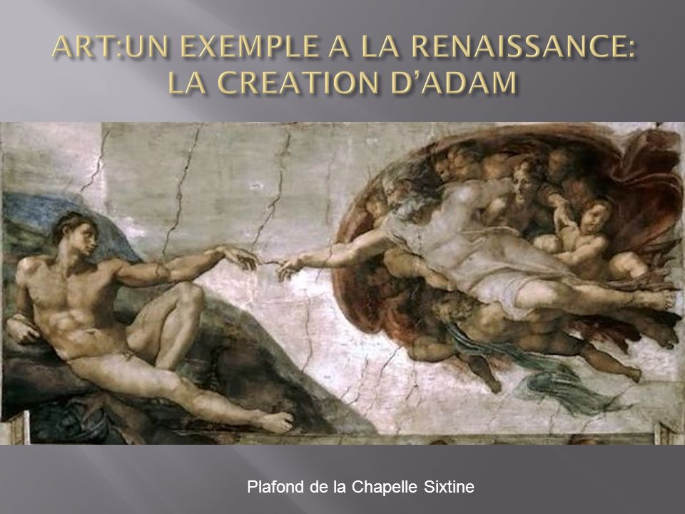ART:UN EXEMPLE A LA RENAISSANCE: LA CREATION D'ADAM