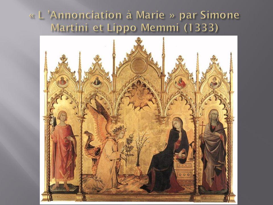 « L 'Annonciation à Marie » par Simone Martini et Lippo Memmi (1333)