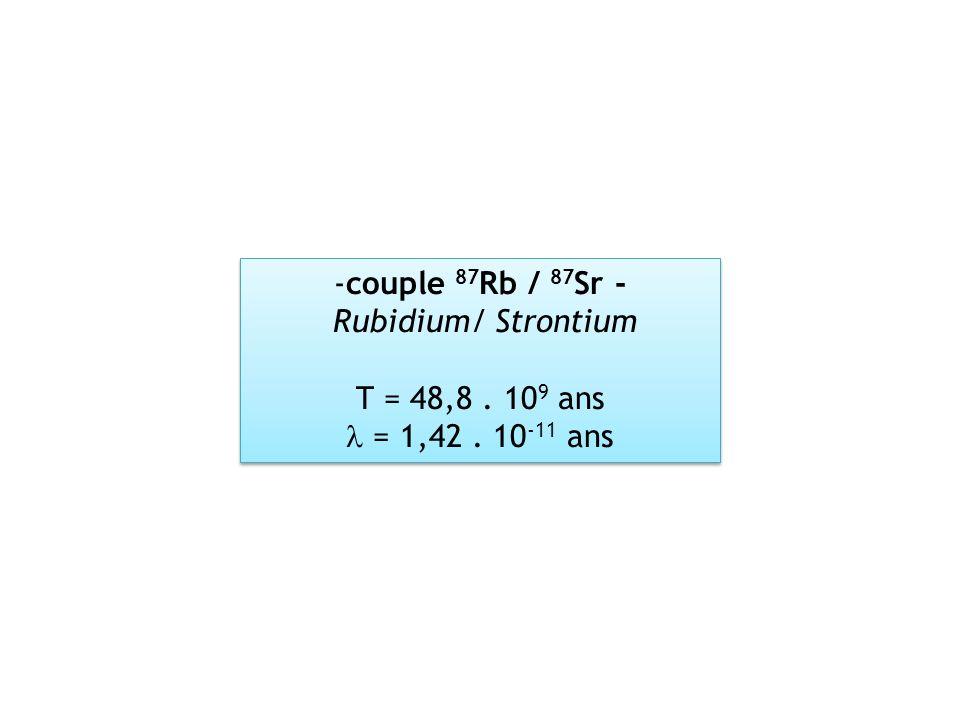 couple 87Rb / 87Sr - Rubidium/ Strontium