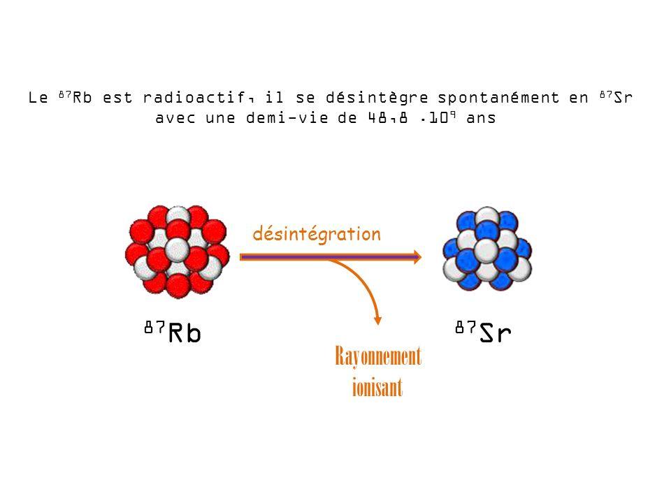 87Rb 87Sr Rayonnement ionisant désintégration