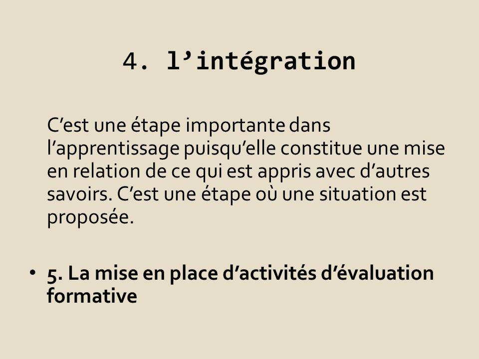 4. l'intégration
