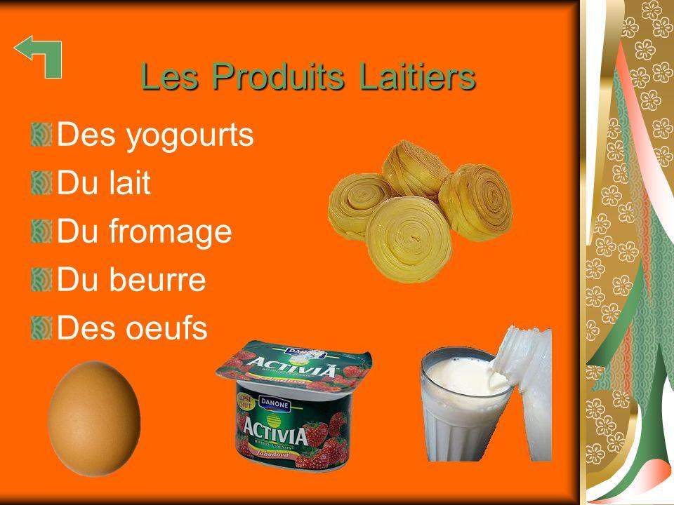 Les Produits Laitiers Des yogourts Du lait Du fromage Du beurre