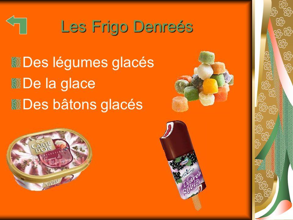 Les Frigo Denreés Des légumes glacés De la glace Des bâtons glacés