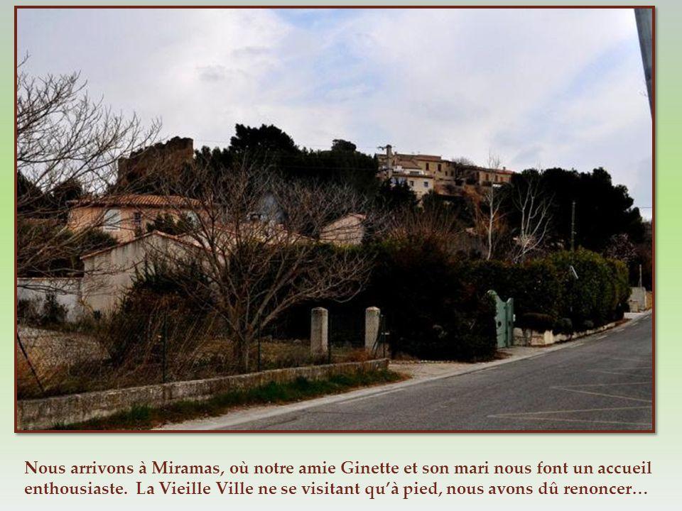 Nous arrivons à Miramas, où notre amie Ginette et son mari nous font un accueil enthousiaste.