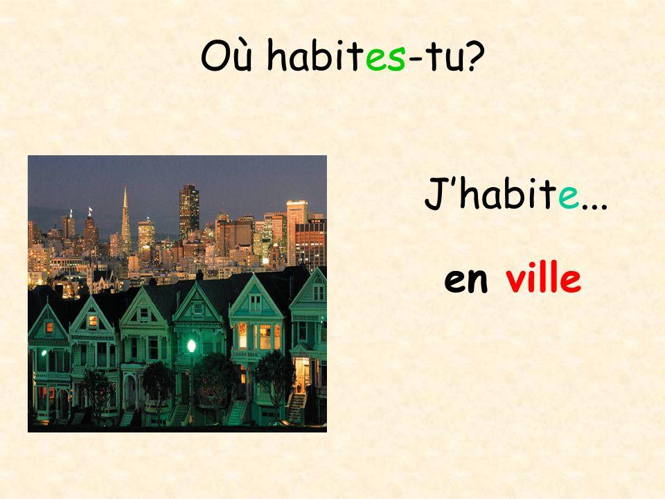Où habites-tu J'habite... en ville