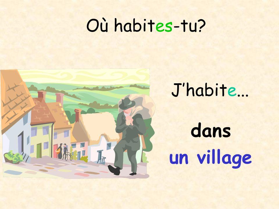Où habites-tu J'habite... dans un village