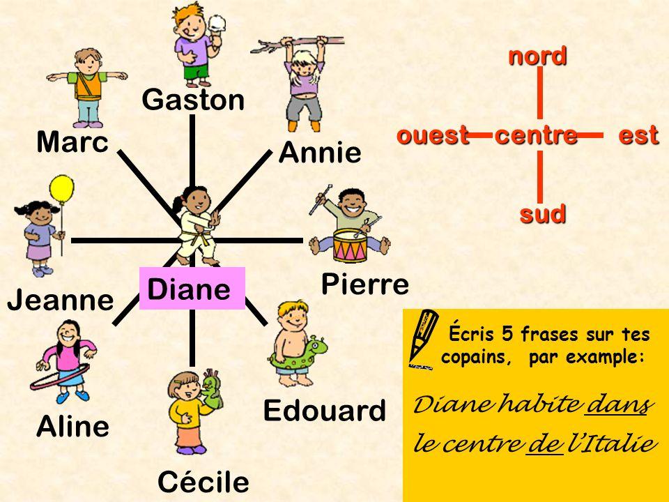 Gaston Marc Annie Pierre Diane Jeanne Edouard Aline Cécile nord ouest