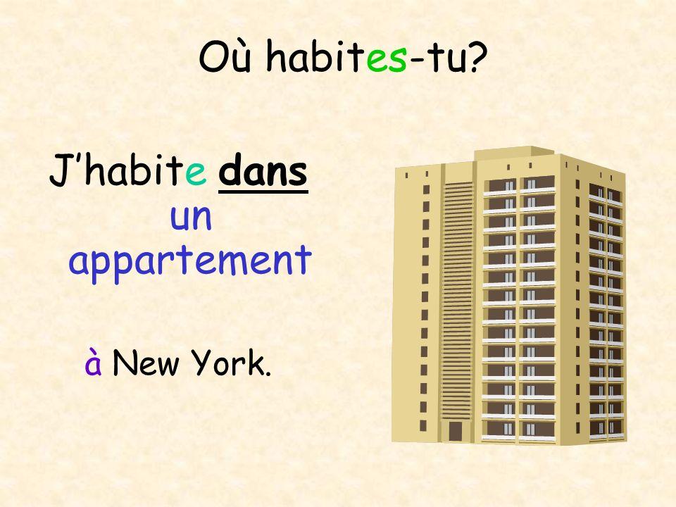 J'habite dans un appartement