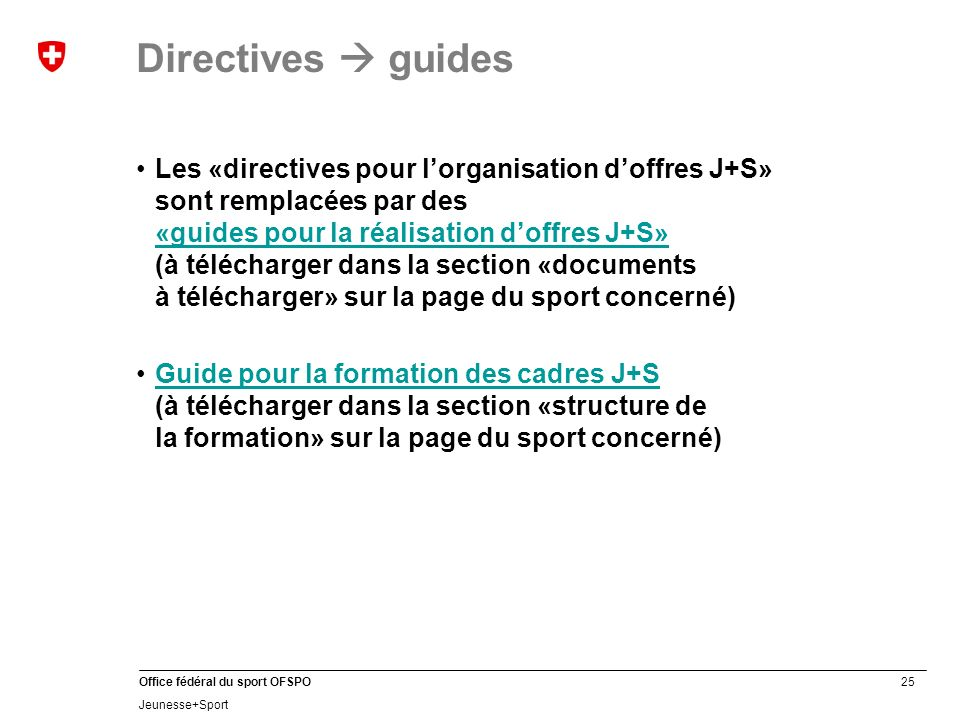 Directives  guides