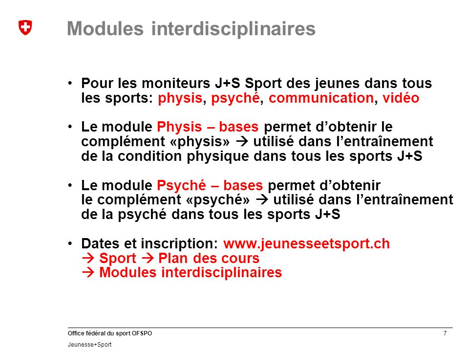 Modules interdisciplinaires