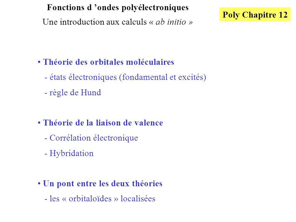 Fonctions d 'ondes polyélectroniques