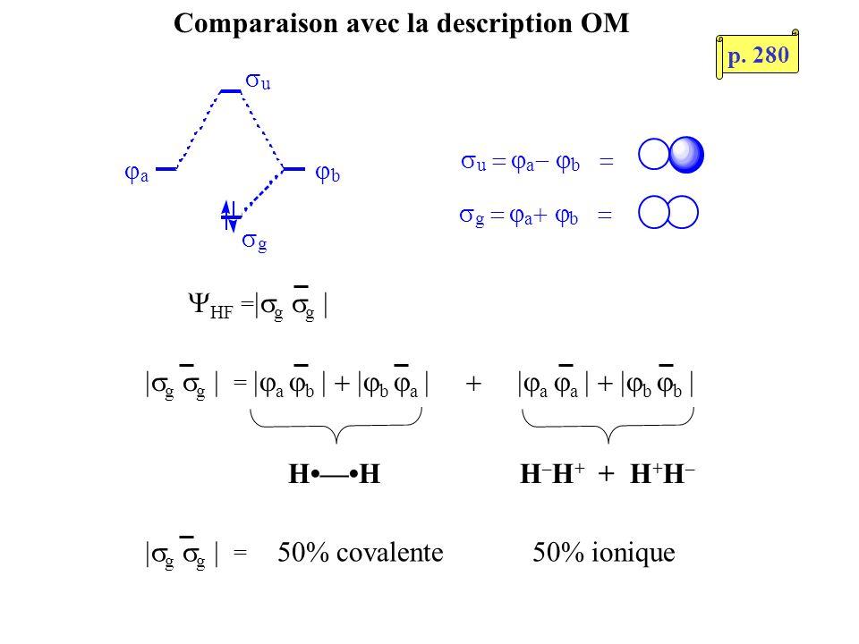 Comparaison avec la description OM