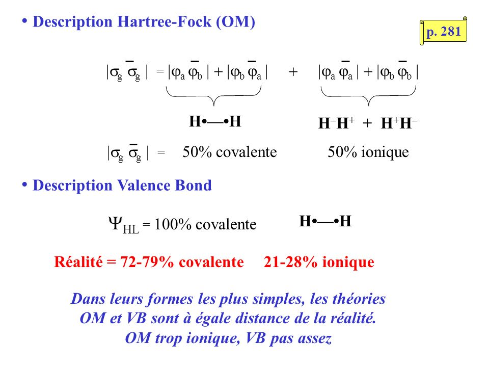 Description Hartree-Fock (OM)
