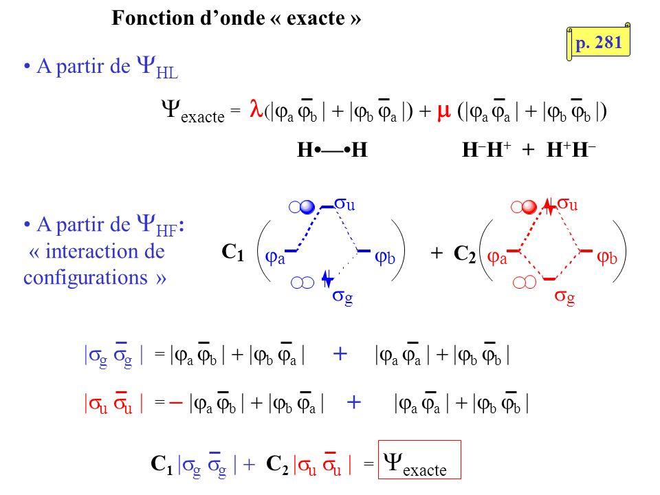 C1 g g  C2 u u  = Yexacte
