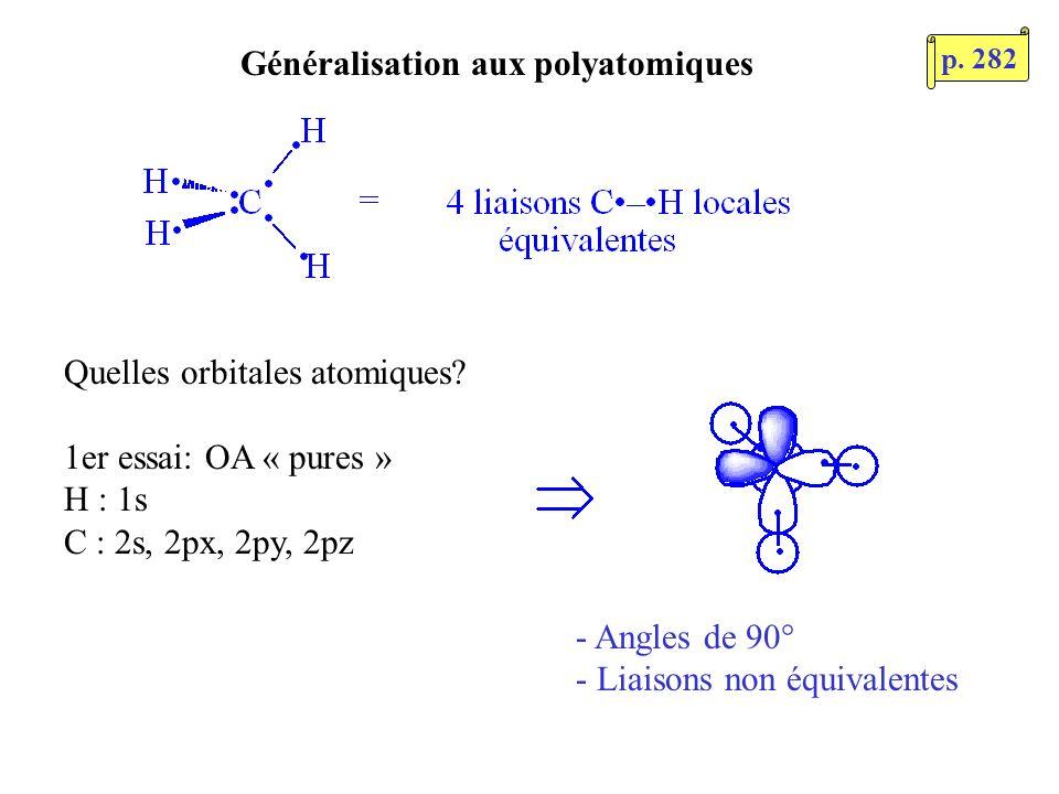 Généralisation aux polyatomiques