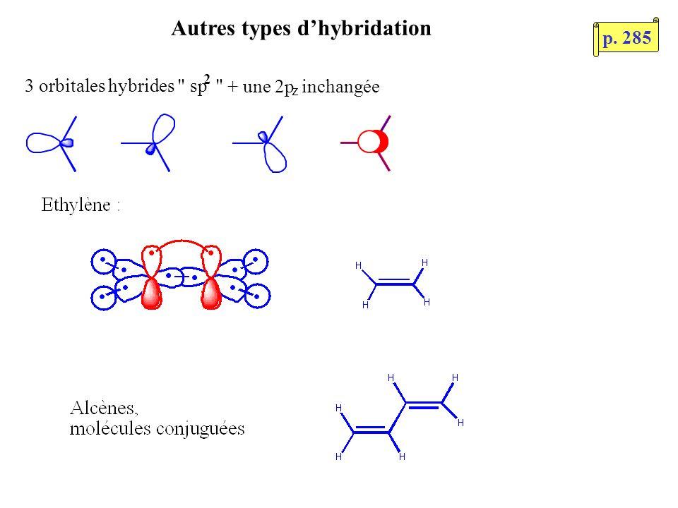Autres types d'hybridation