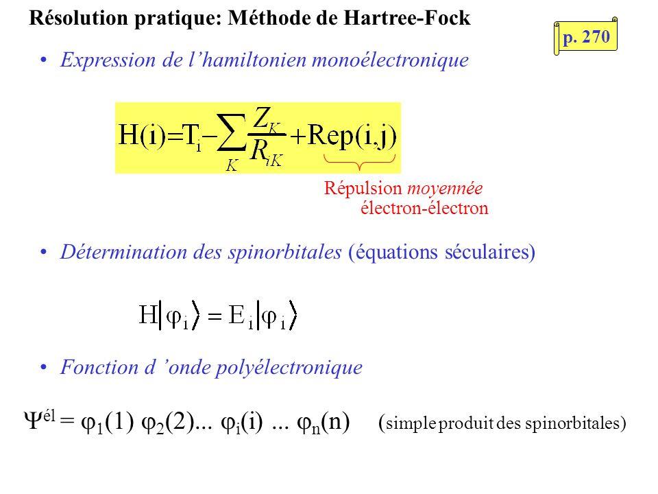 Résolution pratique: Méthode de Hartree-Fock